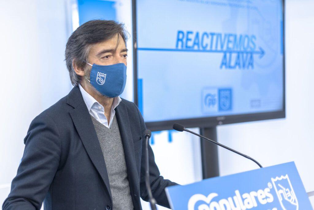 El PP propone planes por 45 millones de euros para reactivar la industria y rescatar el comercio y la hostelería en Álava